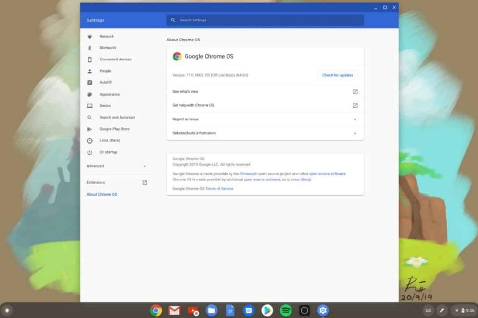 comment mettre à jour Chromebook
