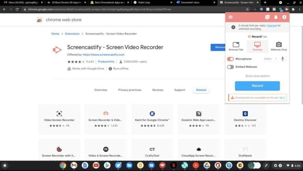 App screencastify
